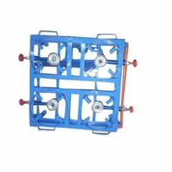 Mild Steel MS Four Burner Gas Stove, For Restaurant, Packaging Type: Box