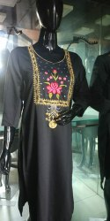 Silk Black Woolen Kurti, Wash Care: Handwash