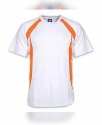 Cotton Men Plain Sports T Shirt