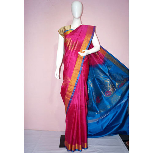 991c7b55d Patola Silk Half Fine Zari Gold Party Wear Uppada Silk Saree, Rs ...