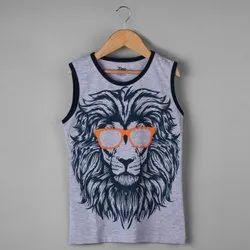 Cotton Printed Boys Tank Top T-Shirt
