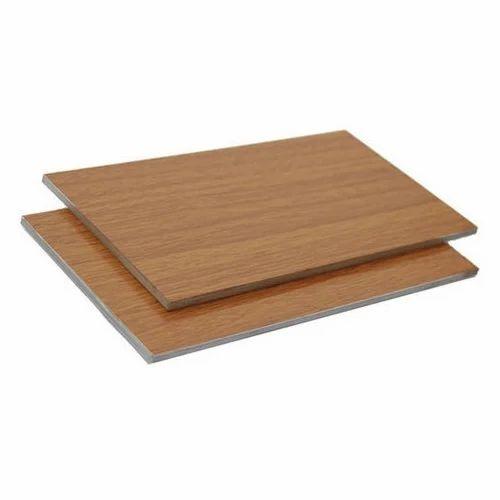 Aluminum Wood Composite Panel, Dimensions: 1220 x 2042 mm