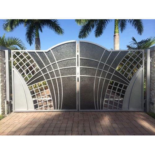 Stainless Steel Modern House Gate Designs: Stainless Steel Main Gate, Designer Stainless Steel Gate