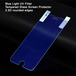 Blue Light UV Filter Mobile Tempered Glass, Packaging Type: Packet, Thickness: 2.5 Mm