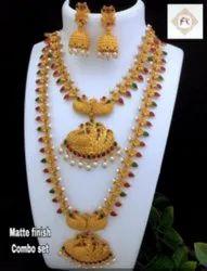 Matte Finish Combo Jewellery Set - 100503100