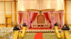 Golden Theme Crystal Wedding Mandap