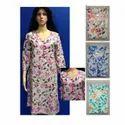 3/4th Sleeves Printed Cotton Kurti