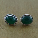 Green Onyx Gemstone Jewelry 925 Sterling Silver Stud Earring
