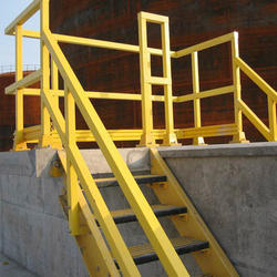 Yellow Bar Fiberglass Stair Railing