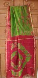 Bagru Hand Block Printed Chanderi Saree