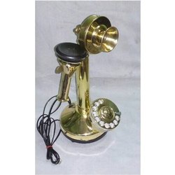 Antique Brass And Golden Decorative Telephone