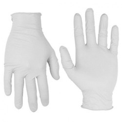 White Latex Disposable Surgical Gloves, For Hospital, Box