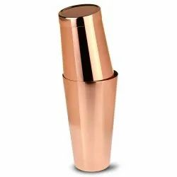Stainless Steel Copper Plated Boston Cocktail Shaker
