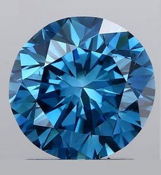 Blue Diamond 1.11ct CVD VVS1 Clarity IGI Certified Round Brilliant Cut Lab Grown Stone