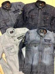 Superdry Dragway Patchwork Denim Shirts