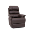 Bab Leather Lounge Brown Single Seater Recliner