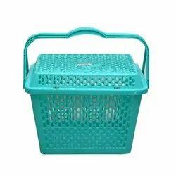 Green Rajini Plastic Basket