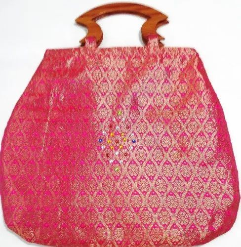 Printed Silk Handled Bag