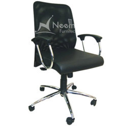 NF-130 Black Rexine Revolving Chair