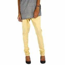 Ladies Plain Casual Wear Cotton Churidar Leggings Pant