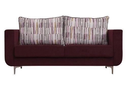 Fabulous Rio 3 Seater Purple Fabric Sofa Machost Co Dining Chair Design Ideas Machostcouk