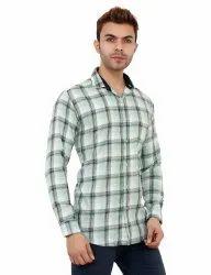Large Check Cotton Shirt