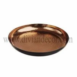 Pure Copper Hammered Plate