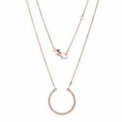 Diamond Horseshoe Pendant Necklace