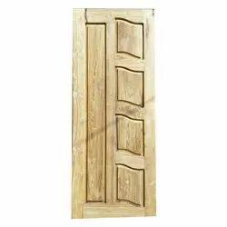 Matt finish Solid Teak Wood Door, Size: 84x39 Inch