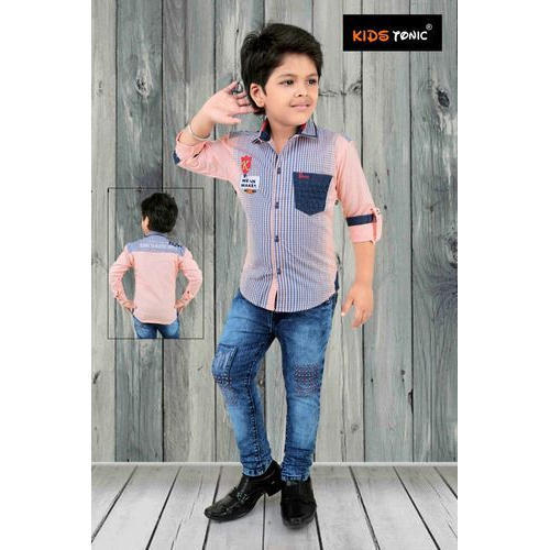 kids trendy shirt pant set