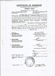 Marriage Certification मरज सरटफकशन