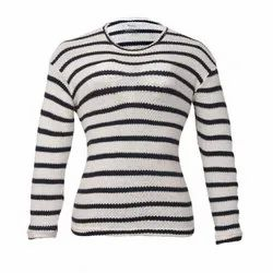 Round Casual Wear Ladies Full Sleeves Top, Size: S-XXL
