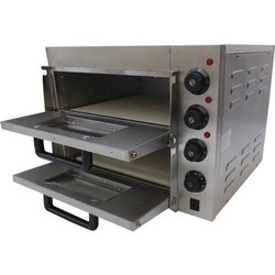 Ecoline Single Electric Pizza Oven Double Deck with Stone