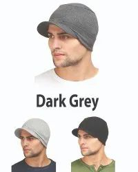 Dark Grey Skull Sports Caps