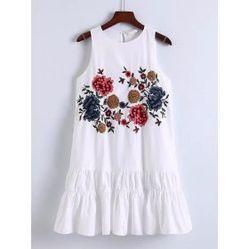 Flower Embroidery Keyhole