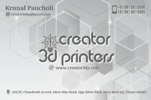Creator 3D Printers - Service Provider from Mira Road East, Mumbai