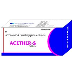 Aceclofenac And Serratiopeptidase Tablet