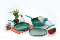 Nirlon Induction Galaxy Green Cookware Set, 4-Pieces