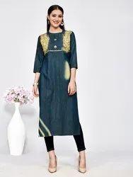 Pr Fashion Launched Beautiful Cool Denim Cotton Designer Readymade Kurti