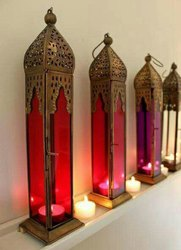 LED Moroccan Hanging Lantern