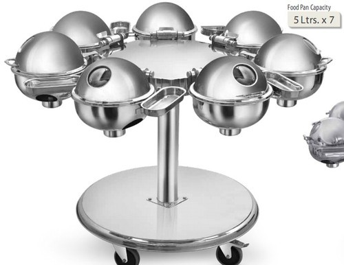 Stainless Steel Gl Portable Chafing Dish Trolley