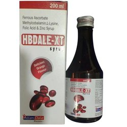 Hbdale-XT Ferrous Ascorbate, Methylcobalamin, L-Lysine, Folic Acid and Zinc Syrup