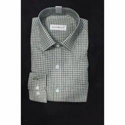 Checks Collar Neck Formal Check Shirt, Size: S,M,L,Xl, Machine wash