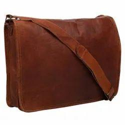 Vintage Look Genuine Leather Full Flap Shoulder Bag