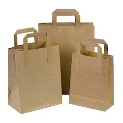 Plain Brown Paper Carry Bag
