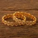 Engagement Wear Gold Plated Antique Classic Bangles 200563