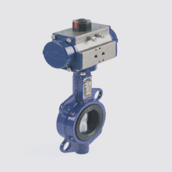 Pneumatic Actuator Operated Butterfly Valve