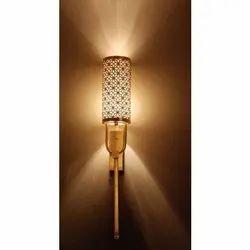 R K Handicrafts Wall Mounted Iron Wall Lamp