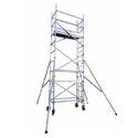 Silver Mobile Scaffold Tower With Stabilizers Wide Version