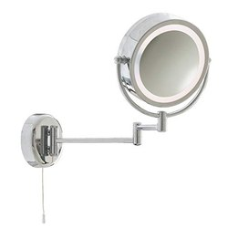 SR Luxury Metal Shaving Mirror with Light, Packaging Type: Box Packing, Mirror Shape: Round
